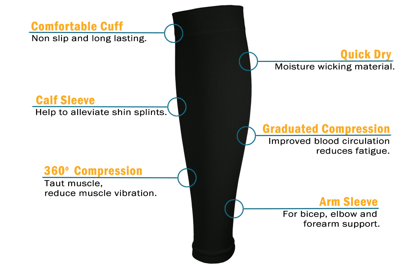Elbow Brace Compression Arm Sleeve